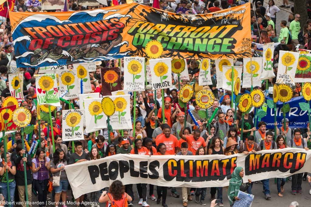 Representatives of Frontline Communities Leading 2014 People's Climate March