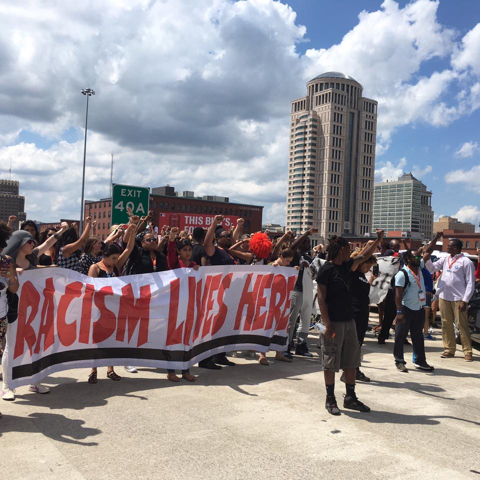 Netroots nation protest event