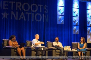 Anthony on the keynote panel at Netroots Nation