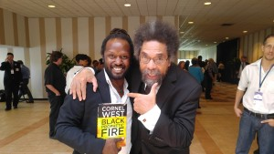 Anthony and Cornell West at the DNC meeting in Orlando
