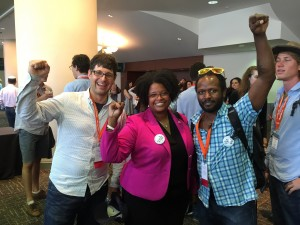 Anthony, Brad and Ferguson MO State Senator Nadalle-Chapelle at Netroots Nation