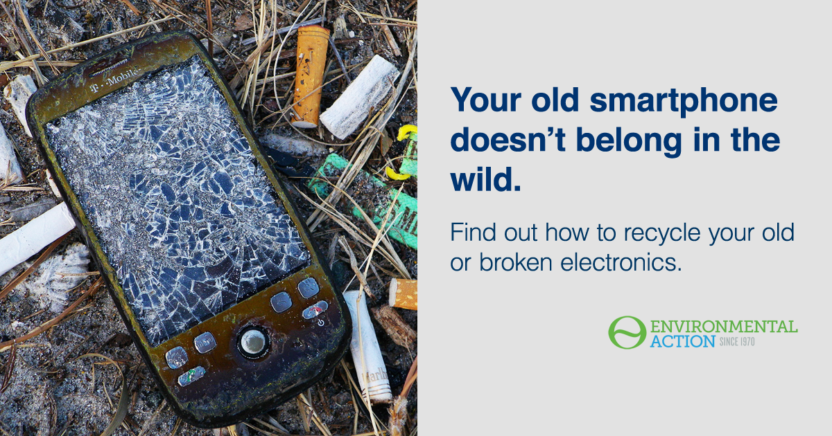E-waste doesn't belong in nature. Reduce, recycle, reuse.