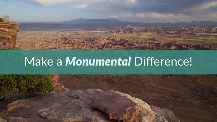 Make a Monumental Difference! Photo: Bears Ears National Monument (Photo: BLM)